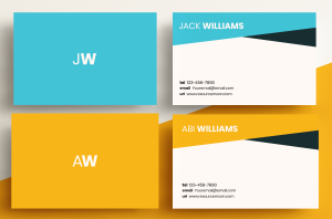 Business Cards Minimal - Two Letter
