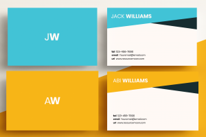 Business Cards Minimal – Two Letter