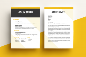 CV & Cover Letter - Modern Yellow