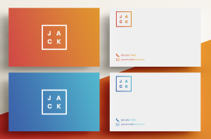 Business Cards Gradient – Outline Rectangle