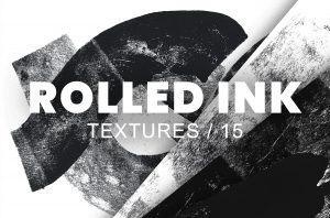 Rolled Ink Textures & Brushes – Mini Pack