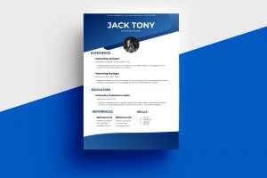 CV/Resume – Gradient Modern Blue