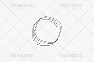 Abstract Four Rounded Rectangle Logo - Vector