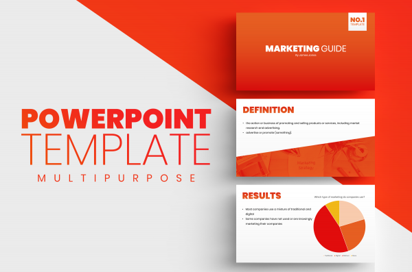 Microsoft PowerPoint Template Orange/Red Gradient
