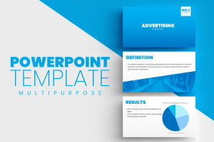 Microsoft PowerPoint Template Blue Gradient