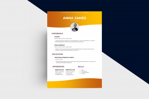 CV/Resume – Teacher I Template