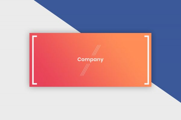 vFacebook Cover Template - Gradient Company I