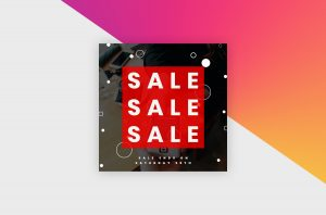 Instagram Post Template - Sale Banner I