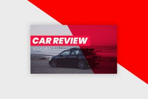 YouTube Thumbnail Template - Car Review Vlog