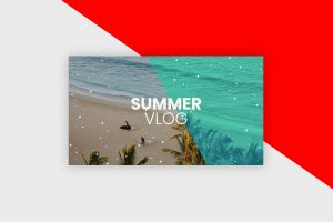 YouTube Thumbnail Template - Summer Vlog