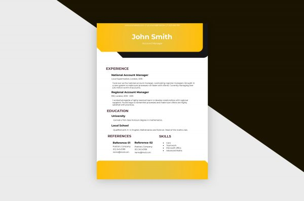 CV/Resume – Account Manager II Template