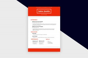 CV/Resume – Account Manager III Template