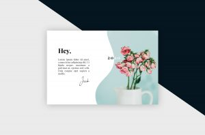 Postcard – Clean & Minimal II Template