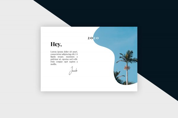 Postcard – Clean & Minimal III Template