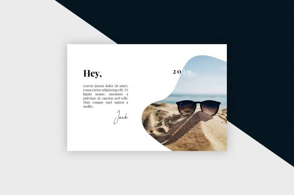 Postcard – Clean & Minimal IV Template