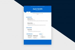 CV/Resume – Delivery Driver I Template