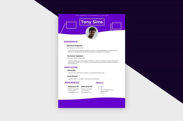CV/Resume – Engineer I Template