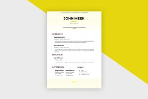 CV/Resume – Sales Associate IV Template
