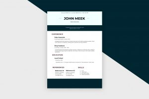 CV/Resume – Sales Associate V Template