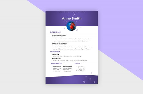 CV/Resume – Social Media Manager I Template