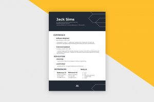 CV/Resume – Software Engineer I Template
