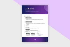 CV/Resume – Software Engineer II Template