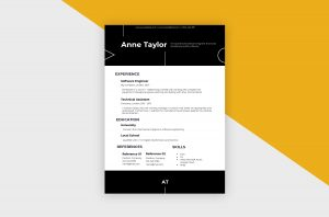 CV/Resume – Software Engineer III Template