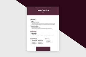 CV/Resume – Tutor II Template