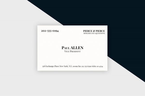 Business Cards Template – American Psycho Inspired