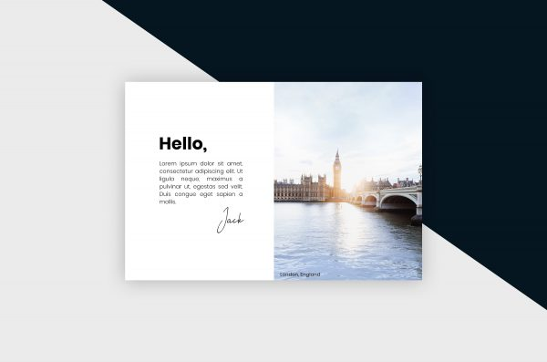 Postcard – London City II Template