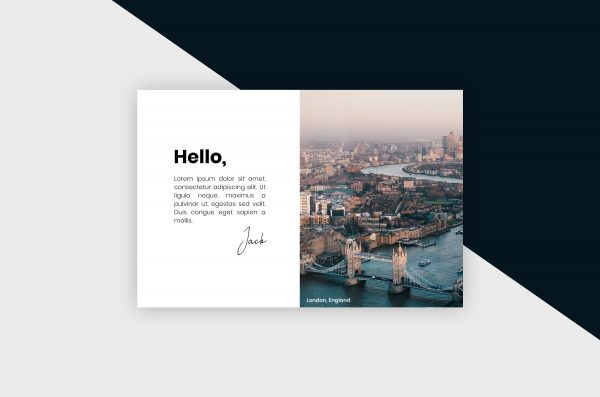 Postcard – London City III Template