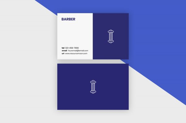 Business Cards Template – Barber Minimal