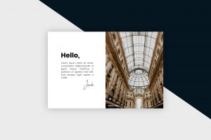 Postcard – Milan City II Template
