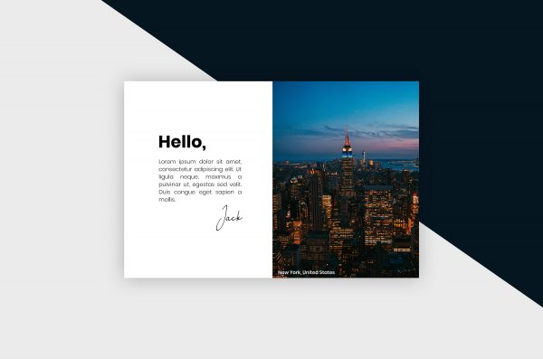 Postcard – New York City I Template