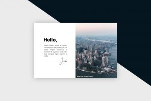 Postcard – New York City II Template