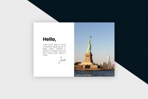 Postcard – New York City III Template