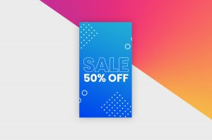 Instagram Story Template - Blue Sale