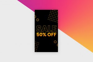 Instagram Story Template - Black Sale