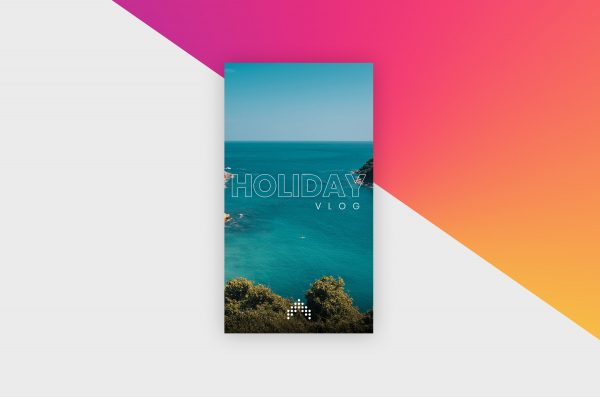 Instagram Story Template - Holiday Vlog IV