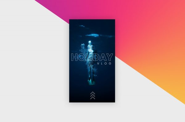 Instagram Story Template - Holiday Vlog V