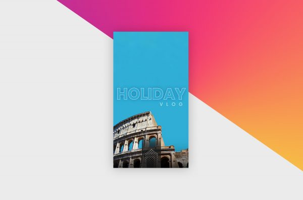 Instagram Story Template - Holiday Vlog VI