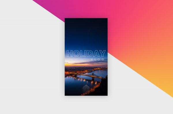 Instagram Story Template - Holiday Vlog VIII