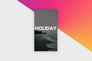 Instagram Story Template - Holiday Vlog I