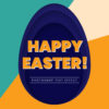 Photoshop Text Template - Happy Easter 3D Text II