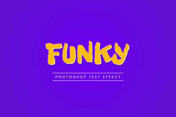 Photoshop Text Template - Funky 3D II
