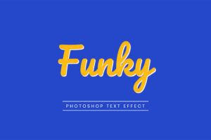 Photoshop Text Template - Funky 3D III