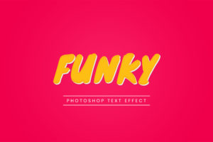 Photoshop Text Template - Funky 3D I