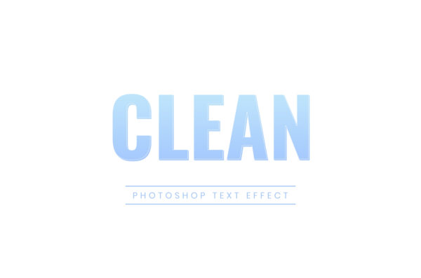 Photoshop Text Template - Clean 3D Text III