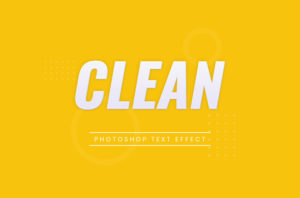 Photoshop Text Template - Clean 3D Text II