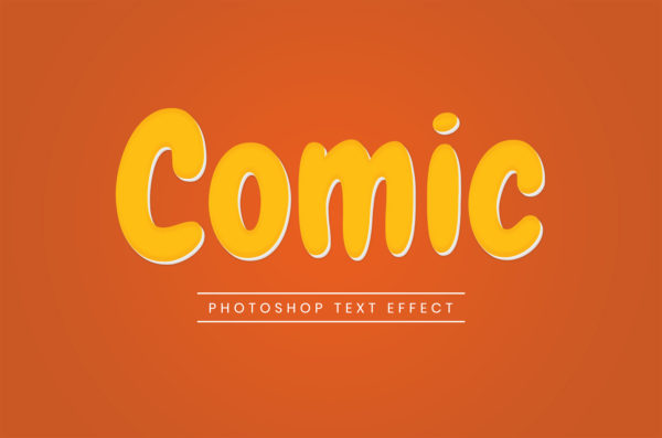 Photoshop Text Template - Comic 3D I